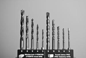 Different drill bits