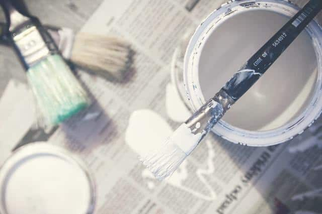 paint and tools on magazines