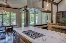 Kitchen countertop with stove