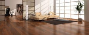 Hardwood floor satin finish
