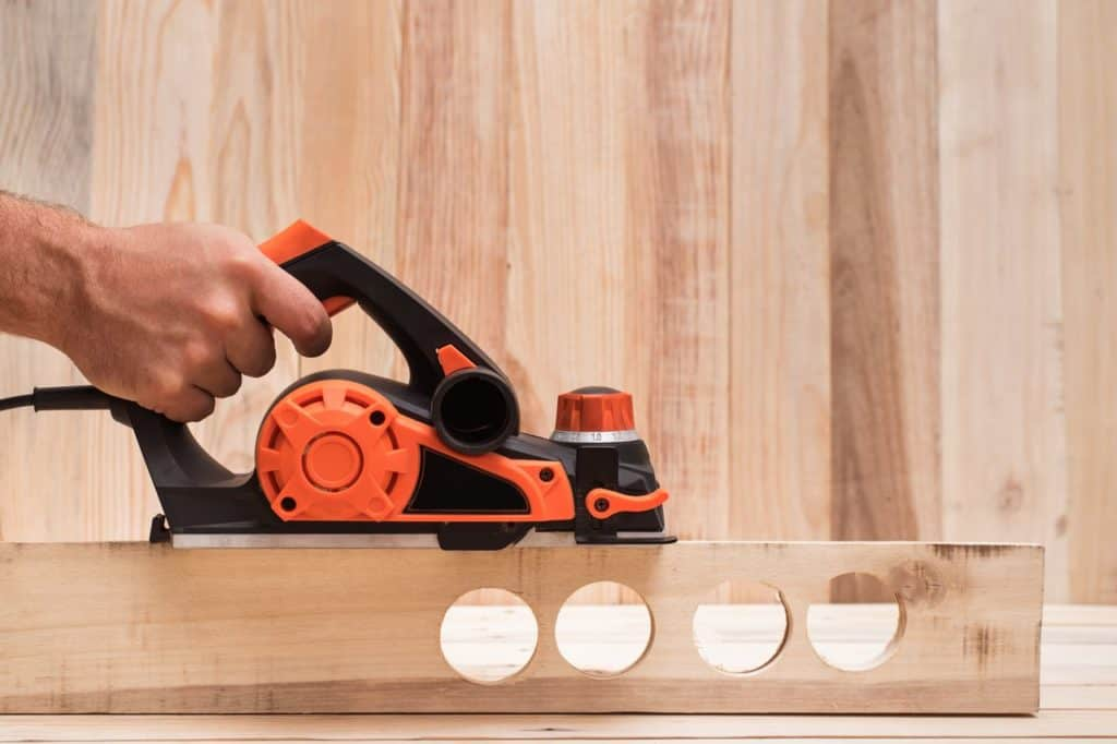 Planing Wood with a Power Tool