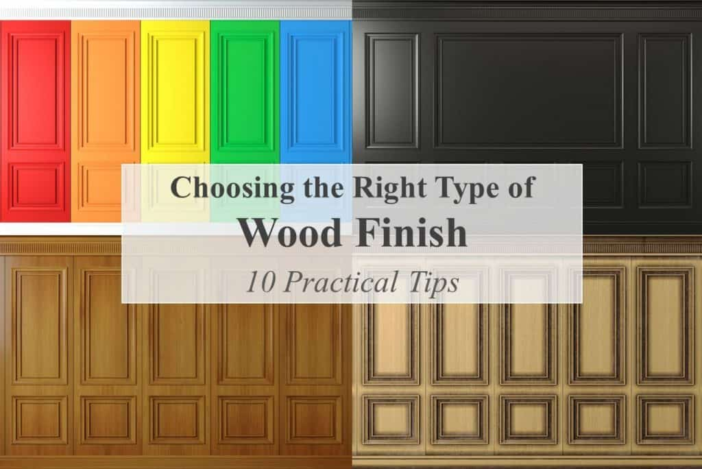 Title - Example of different wood finishes